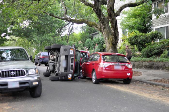Car accident on raod